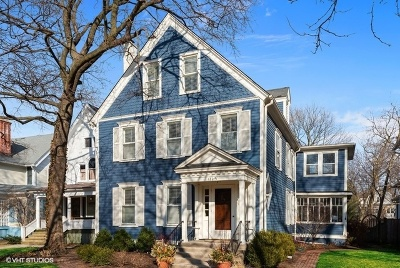 Evanston Single Family Home For Sale: 1229 Hinman Avenue