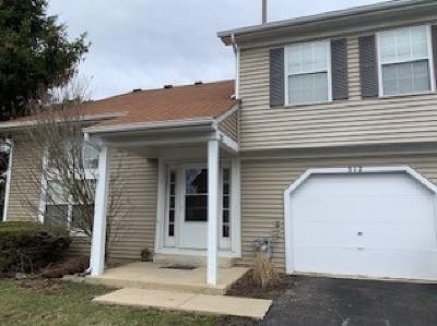 Streamwood Condo/Townhouse For Sale: 312 Wisteria Drive