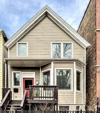 Single Family Home Price Change: 1134 West Addison Street