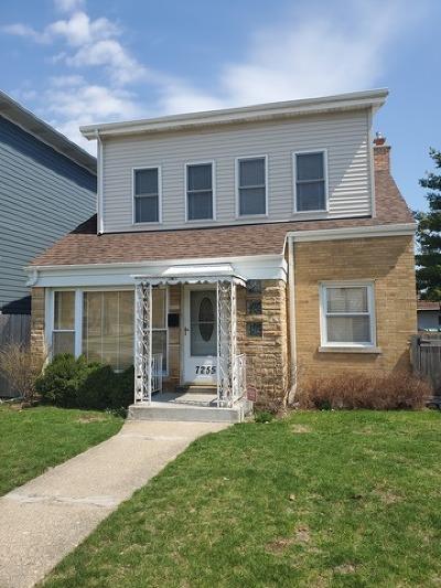 Chicago Single Family Home New: 7255 North Oriole Avenue