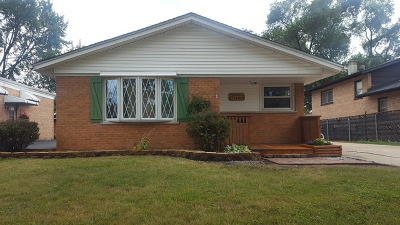 Alsip Single Family Home For Sale: 3429 West 123rd Place