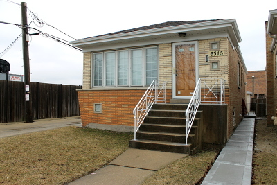 Chicago Single Family Home New: 6315 South La Crosse Avenue