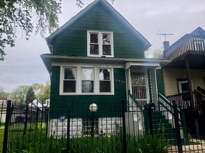 Chicago Single Family Home New: 4826 West Hubbard Street
