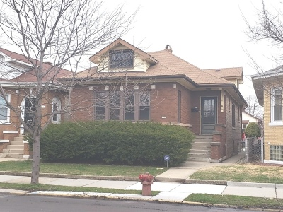 Chicago Single Family Home New: 6134 West Addison Street