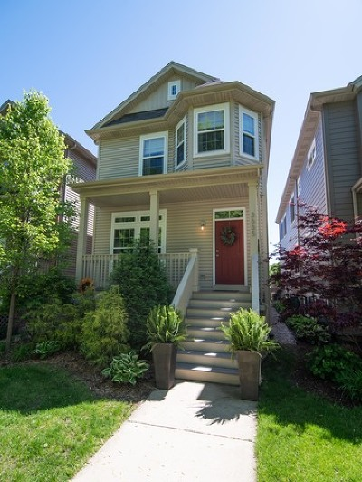 Chicago Single Family Home New: 3635 North Hamlin Avenue