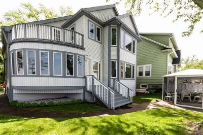 Fox Lake Single Family Home Price Change: 72 Lake Lane