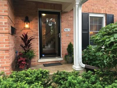 Wilmette Condo/Townhouse For Sale: 506 Ridge Road #A