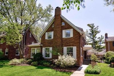 Wilmette Single Family Home Price Change: 1025 Chestnut Avenue