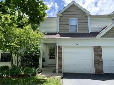 Streamwood Condo/Townhouse For Sale: 227 East Shag Bark Lane