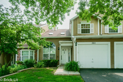 Streamwood Condo/Townhouse For Sale: 502 Ascot Lane