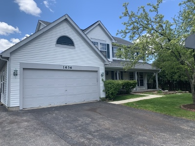 Crystal Lake Single Family Home For Sale: 1636 Brigham Lane