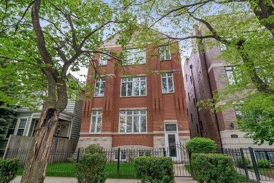 Condo/Townhouse For Sale: 1827 West Addison Street #1