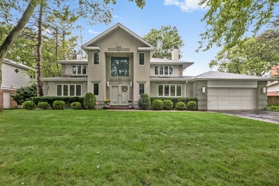 Wilmette Single Family Home Price Change: 519 West Meadow Drive