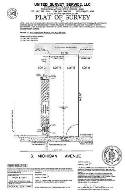 Chicago Residential Lots & Land For Sale: 3641 South Michigan Avenue
