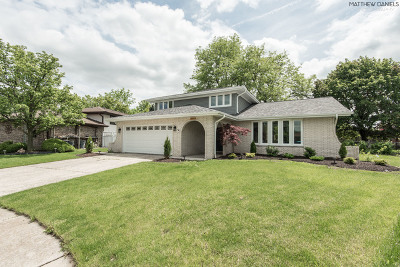 Alsip Single Family Home Price Change: 5861 West 124th Place