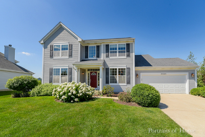 Plainfield Single Family Home Price Change: 25445 Pavilion Place