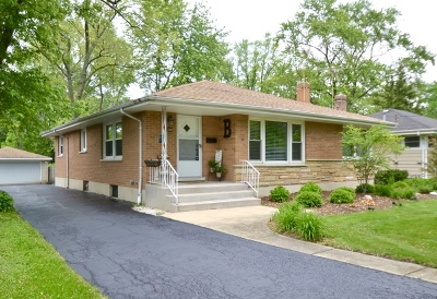 Downers Grove Single Family Home Price Change: 1320 Jefferson Avenue