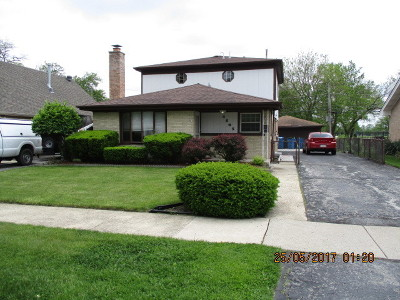 Alsip Single Family Home For Sale: 4505 West 125th Street