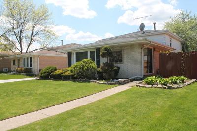 Chicago Ridge Single Family Home For Sale: 10804 Massasoit Avenue