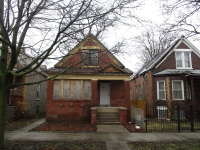 Chicago Single Family Home New: 8412 South Peoria Street