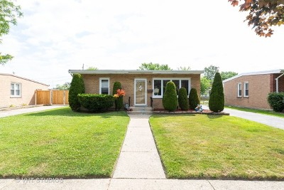 Alsip Single Family Home For Sale: 11535 South Kenton Avenue