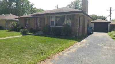Alsip Single Family Home For Sale: 4727 West 115th Place