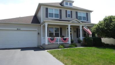 Bolingbrook Single Family Home New: 820 Delacourte Avenue