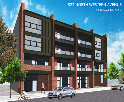 Chicago Condo/Townhouse New: 522 North Western Avenue #401