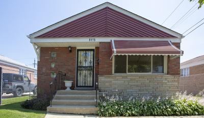 Chicago Single Family Home New: 8105 South Kostner Avenue