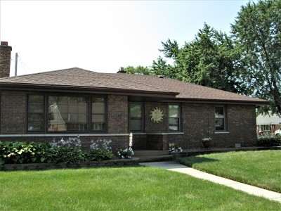 Alsip Single Family Home For Sale: 4435 West 115th Place