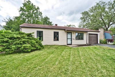 Streamwood Single Family Home For Sale: 1002 Manor Drive