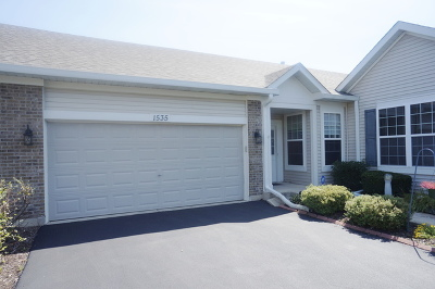 Romeoville Condo/Townhouse For Sale: 1535 West Cadillac Circle