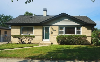 Alsip Single Family Home New: 12432 South 45th Avenue