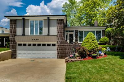 Morton Grove Single Family Home New: 6640 Davis Street
