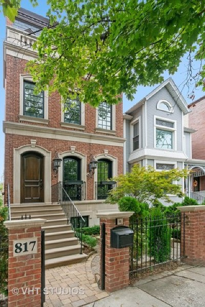 Chicago Single Family Home New: 817 West Wrightwood Avenue