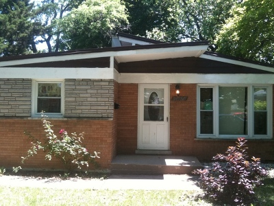 Cook County Single Family Home New: 14739 Wabash Avenue