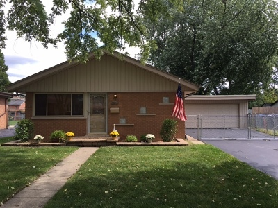 Cook County Single Family Home New: 10801 South Rutherford Avenue