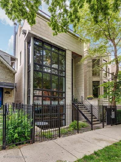 Chicago Single Family Home New: 1340 North Leavitt Street