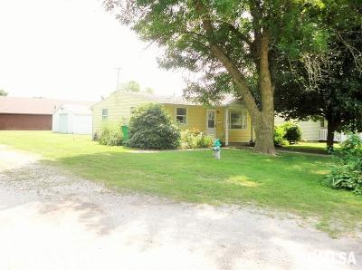 Taylorville IL Single Family Home For Sale: $51,900