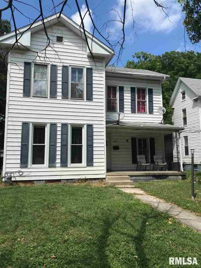 Jacksonville IL Single Family Home For Sale: $50,000