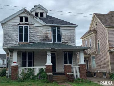 Jacksonville IL Single Family Home For Sale: $9,500