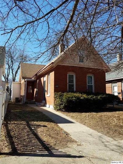 Quincy IL Single Family Home For Sale: $74,900