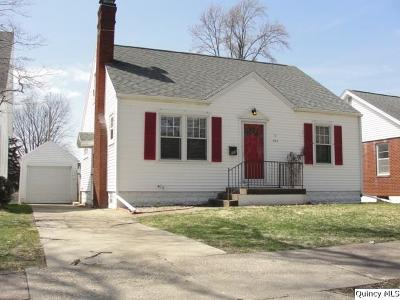 Quincy IL Single Family Home For Sale: $94,900