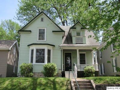 Quincy IL Single Family Home For Sale: $112,500