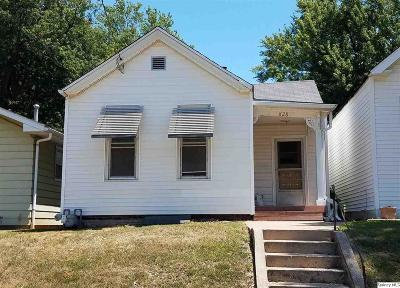 Quincy IL Single Family Home For Sale: $37,500