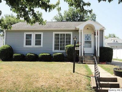 Quincy IL Single Family Home For Sale: $92,500