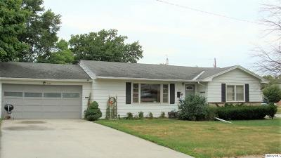 Quincy IL Single Family Home For Sale: $116,900