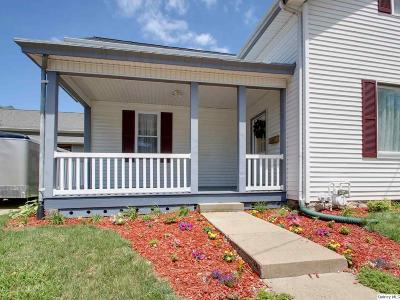 Quincy IL Single Family Home For Sale: $107,500