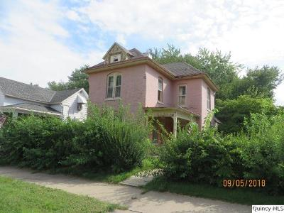 Quincy IL Single Family Home For Sale: $19,000