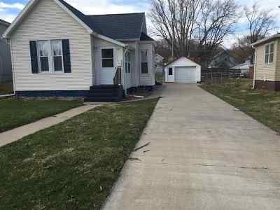 Clinton IA Single Family Home For Sale: $61,000